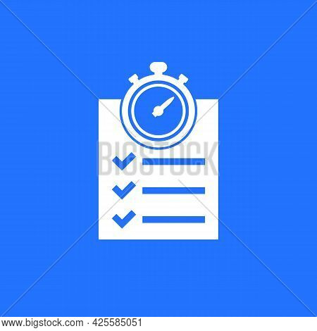 Chronometer, Timer And A Checklist Vector Icon
