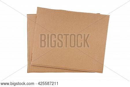 Dark Cardboard Isolated On White.