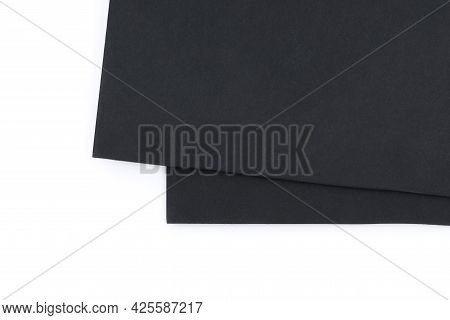 Black Foam Board Isolated On White.