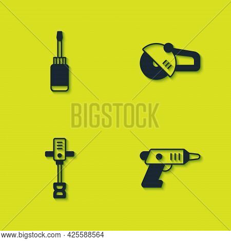 Set Screwdriver, Electric Cordless Screwdriver, Electrical Hand Concrete Mixer And Angle Grinder Ico