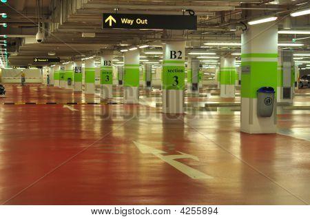 Empty Basement Car Park