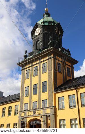 Norrkoping Town Landmarks In Sweden. Holmentornet - Former Industrial Building.
