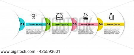 Set Line No Smoking, Days, Nicotine Gum Blister Pack And Electronic Cigarette. Business Infographic