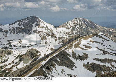 Placlivo And Ostry Rohac Peaks From Baranec Peak, Western Tatras, Slovak Republic. Hiking Theme. Sea