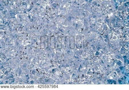 Abstract Background Of Colorful Bright Transparent Rhinestone Strass Crystals, Beads Or Artificial I