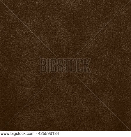 Dark Brown Abstract Uneven Grunge Background Texture Of Chamois Leather Grain Surface Pattern