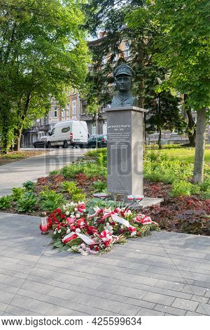 Gorzow Wielkopolski, Poland - June 1, 2021: Monument To Witold Pilecki - One Of Several Monuments To