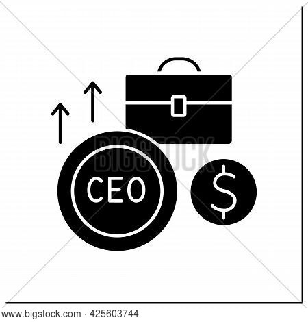 Ceo Glyph Icon. Chief Executive Officer. Leader Of Business Project. Main Person In The Workplace. B