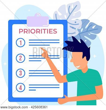 Priority Concept Vector Illustration. An Important Agenda For Doing Planning And Work Management To