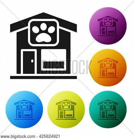 Black Pet Grooming Icon Isolated On White Background. Pet Hair Salon. Barber Shop For Dogs And Cats.