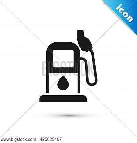 Grey Petrol Or Gas Station Icon Isolated On White Background. Car Fuel Symbol. Gasoline Pump. Vector