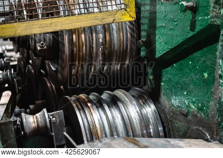 Round Rolls Of A Rolling Mill For Cold Rolling Of Steel.