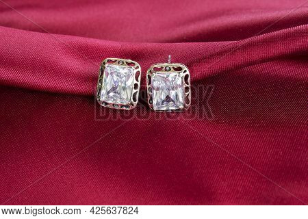 In The Jewelry Box There Is A Ring In A Frame Of Pink Delicate Peonies On A Beautiful Pink Backgroun
