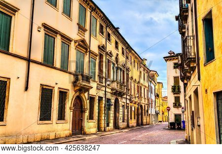 Architecture Of The Old Town Of Vicenza. Unesco World Heritage In Italy