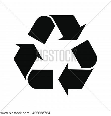 Moebius Loop. International Symbol For Recycling. Eco Icon