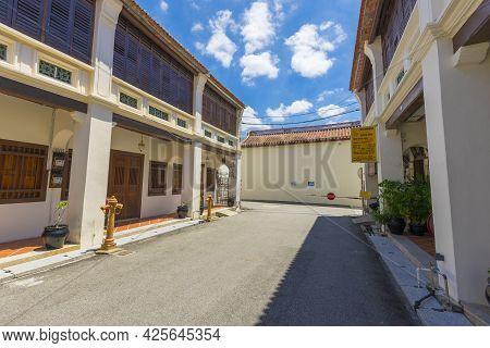 Penang, Malaysia - February 14,2019 : Street That Lead To Leong San Tong Khoo Kongsi Clan House In L
