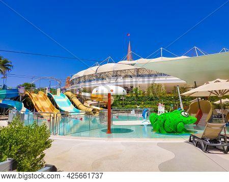 Belek, Antalya, Turkey - May 15, 2021: The Land Of Legends Theme Park In Belek. Pool