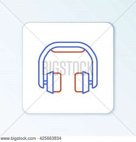 Line Headphones Icon Isolated On White Background. Earphones. Concept For Listening To Music, Servic
