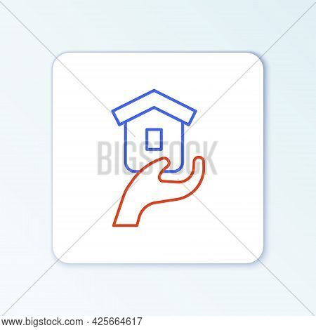 Line Shelter For Homeless Icon Isolated On White Background. Emergency Housing, Temporary Residence