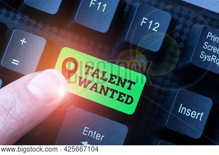 Handwriting Text Talent Wanted. Business Concept Method Of Identifying And Extracting Relevant Gifte