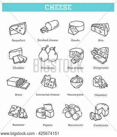 Includes Various Cheese Types - Maasdam, Brie, Gouda, Mozzarella, Parmesan, Emmental, Camembert And