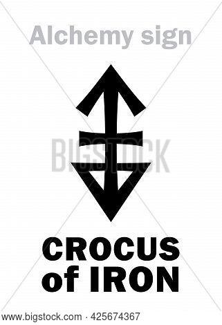 Alchemy Alphabet: Crocus Of Iron (crocus Martis), Also: Colcothar, Colchicum, Lapis Haematites, Eq.: