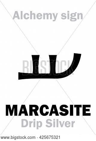 Alchemy Alphabet: Marcasite (marcasita), Radiant Chalcedonius, Crest Chalcedony; Eq.: Calcedoine; Al