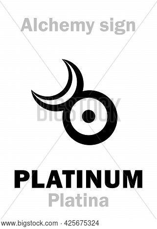Alchemy Alphabet: Platina (platinum < Spanish: Platino