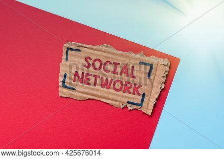 Inspiration Showing Sign Social Network. Business Idea A Framework Of Individual Linked By Interan I