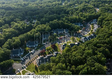 Aerial Drone View Of A Residential Or Timeshare Development In Fairfield Glade Tennessee