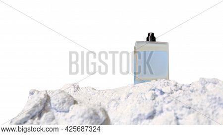 Male Eau De Toilette Bottle Isolated On White Background. Perfume For Men.1