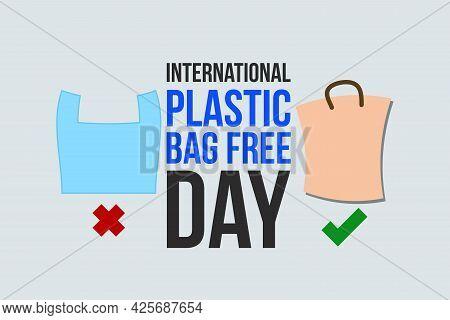 International Plastic Bag Free Day Background Design