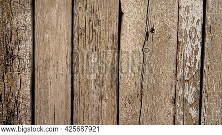 Texture Of Old Dry Boards, Background From Vintage Dry Board.