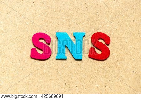 Color Cloth Alphabet Letter In Word Sns (abbreviation Of Social Networking Site Or Sorry Not Sorry)