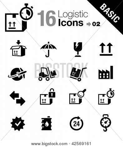 Basic - Logistic and Shipping icons