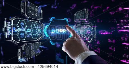 Business, Technology, Internet And Network Concept. Gdpr General Data Protection Regulation.