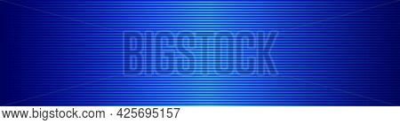 Abstract Wide Striped Lined Horizontal Glowing Background. Scan Blue Screen. Technological Futuristi