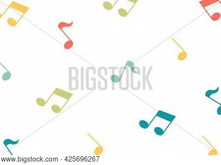 Colorful Tone Symbol Pattern With Music And Song Theme With Simple And Modern Design