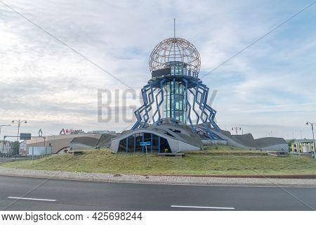 Gorzow Wielkopolski, Poland - June 1, 2021: Observation Tower Dominanta On St. George's Roundabout.