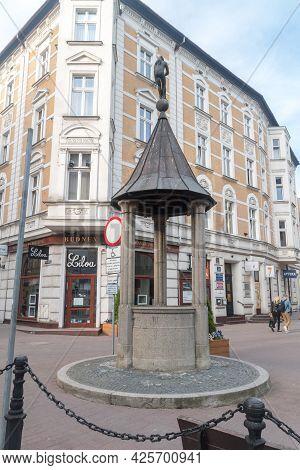 Gorzow Wielkopolski, Poland - June 1, 2021: The Witches' Well.