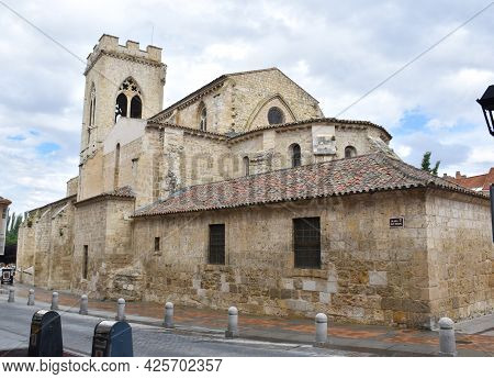 Exterior View Of The Head Of The Church Of San Miguel. Temple Of Catholic Worship, Late-romanesque A