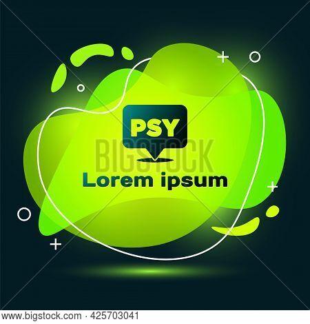 Black Psychology Icon Isolated On Black Background. Psi Symbol. Mental Health Concept, Psychoanalysi