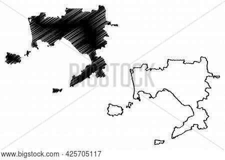 Naples Province (italy, Italian Republic, Campania Region) Map Vector Illustration, Scribble Sketch