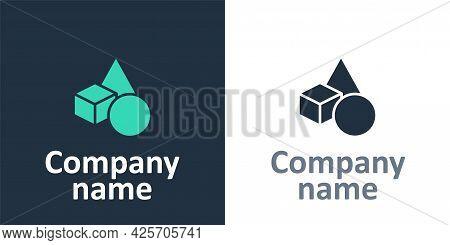 Logotype Basic Geometric Shapes Icon Isolated On White Background. Logo Design Template Element. Vec