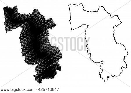 Pisa Province (italy, Italian Republic, Tuscany Or Toscana Region) Map Vector Illustration, Scribble