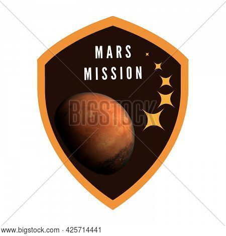 Mission To Mars Badge Patch For Space Enthusiasts