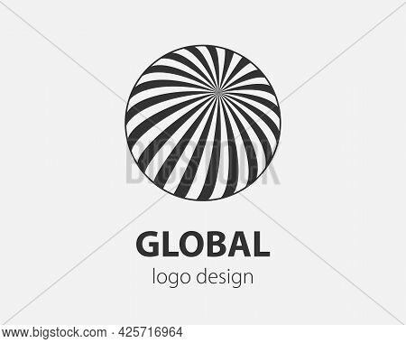 Sphere Vector Logo Design Template For Business. Global Icon.