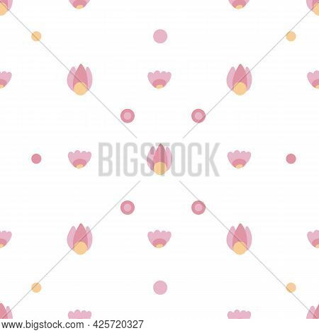 Cute Childish Pattern With Small Delicate Flowers On A White Background. Natural Delicate Texture Fo