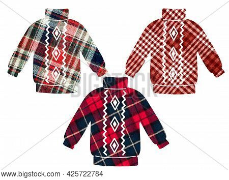 Decorative Sweater. Can Be Used As Stickers, Decorative Element, Magnets, Cut Out And Turned Into De