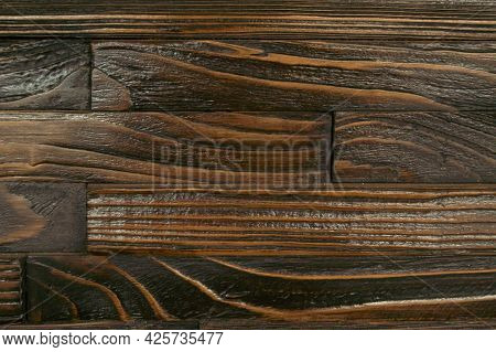 Tile Texture Background From Natural Dark Wood, Brown-orange, Background, Wood Texture, Orange, Dark